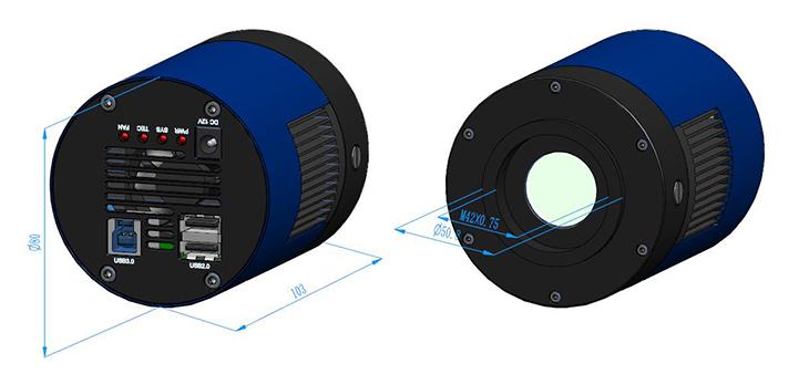 MTR3CMOS Camera Dimension