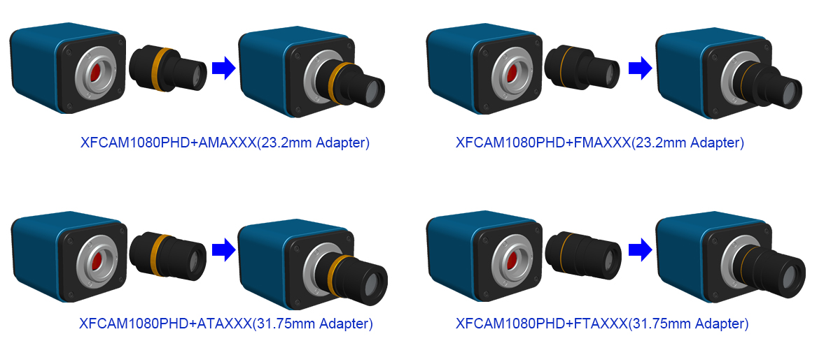 XFCAM1080PHD Auto-focus HDMI C-mount CMOS Camera