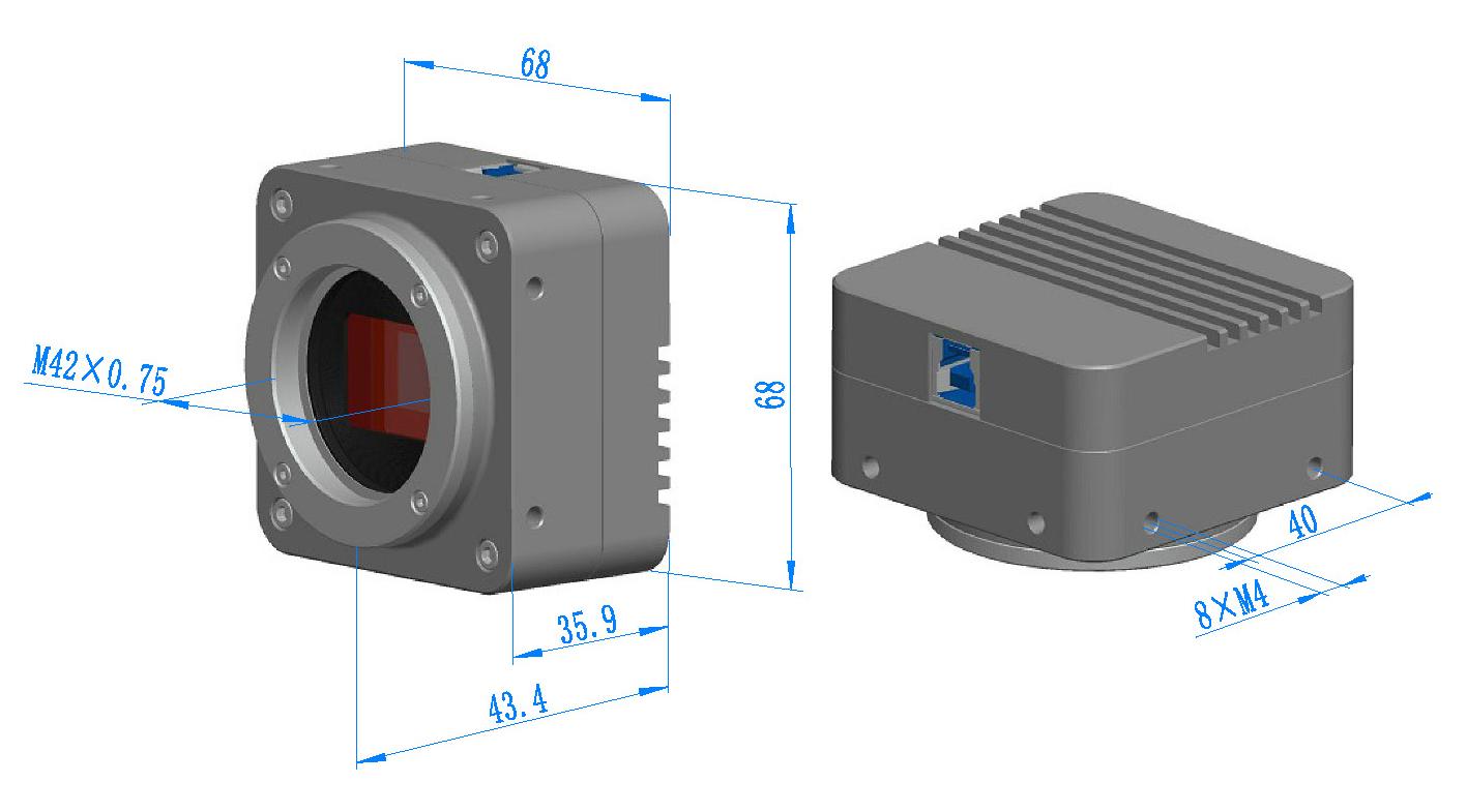 BigEye Camera Dimension