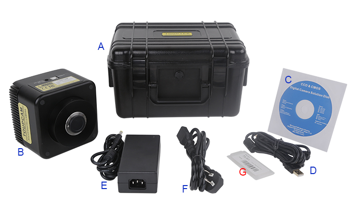 Packing Information for SCCD Series USB2.0 CCD Camera