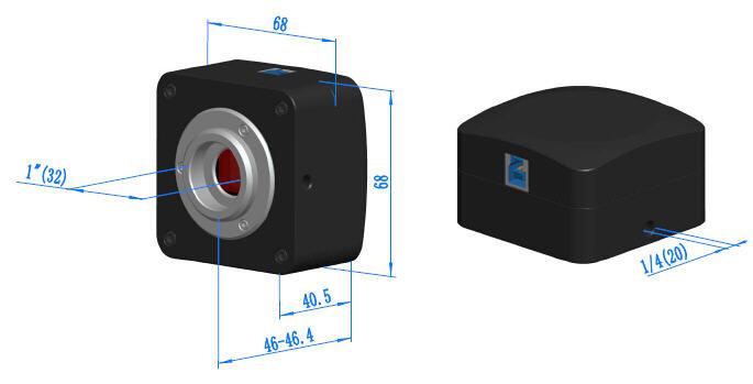 E3CMOS Camera Dimension