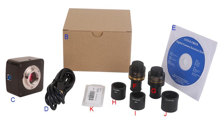 E3CMOS系列相机标准装箱清单